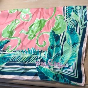 Lily Pulitzer silk square scarf